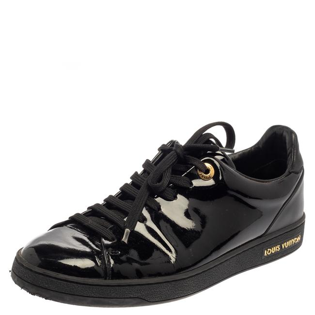Item - Black Patent Leather Low Top Sneakers Size 38 Athletic