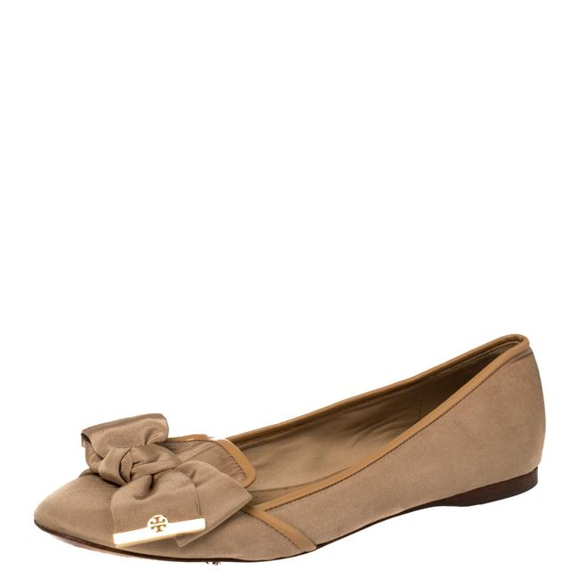 Item - Beige Fabric Bow Ballet Size 39 Flats
