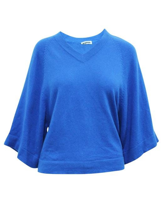 Item - Blue Oversized Cashmere Sweater -pre Owned Condition Very Blouse