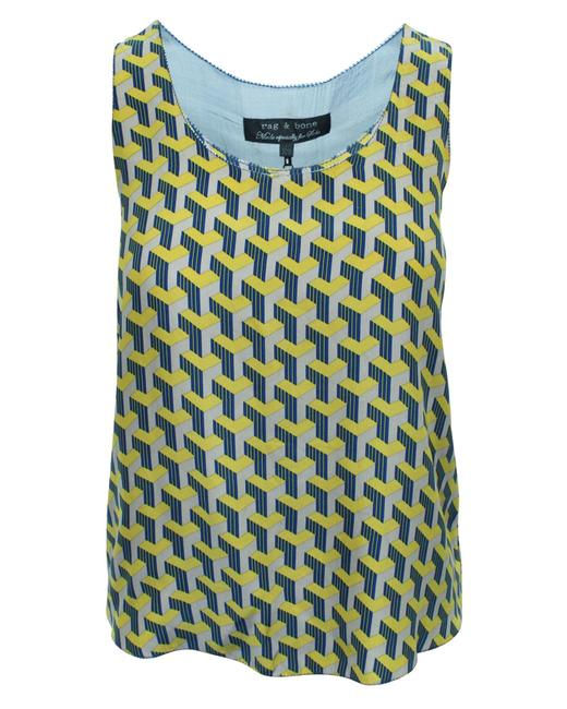 Item - XS Yellow Print Silk Top -pre Owned Condition Very Good Blouse
