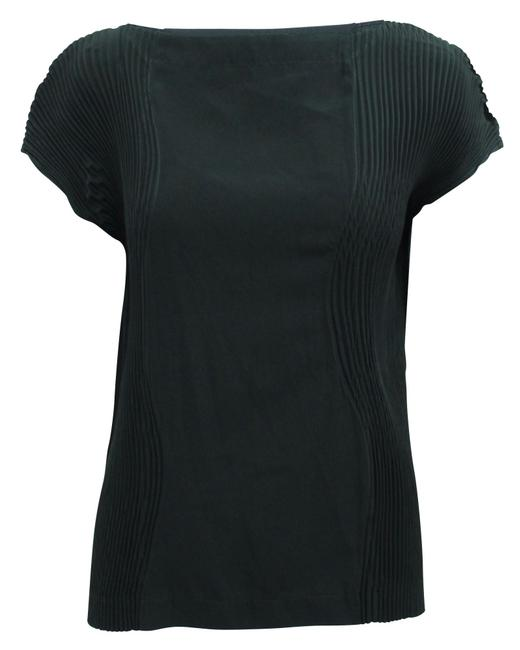 Item - Black Top with Pleats On Sides -pre Owned Condition Very Blouse