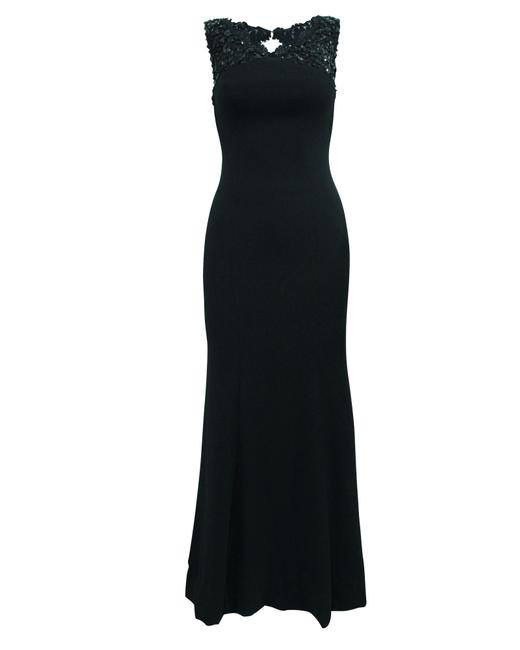 Item - Black Lace Sabrina Gown -pre Owned Condition Very Formal Dress