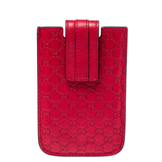 Item - Red Leather Microguccissima Iphone 3&4 Case Tech Accessory