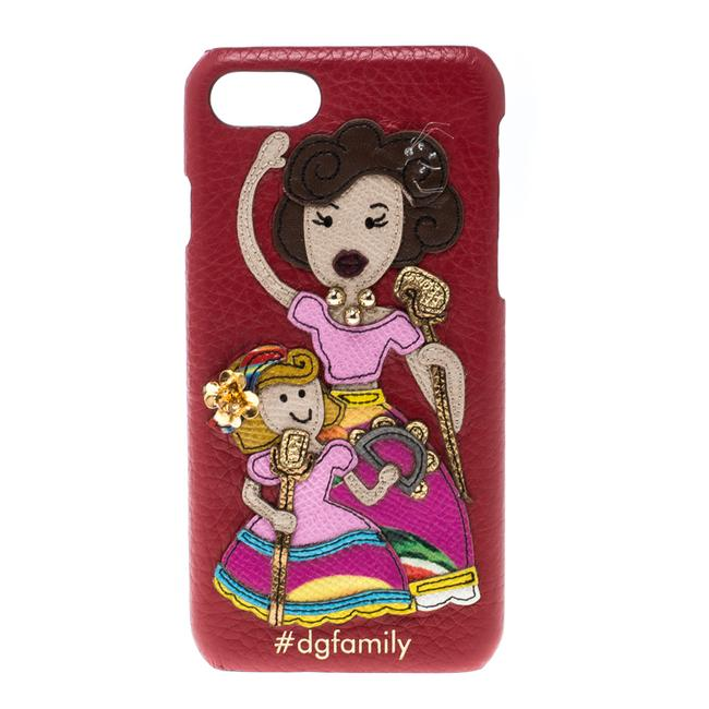 Item - Dolce & Gabbana Red Leather Embellished #dgfamily Patch Iphone 6 Case Tech Accessory