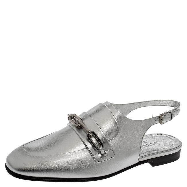 Item - Silver Leather Cheltown Slingback Flat Size 36.5 Sandals