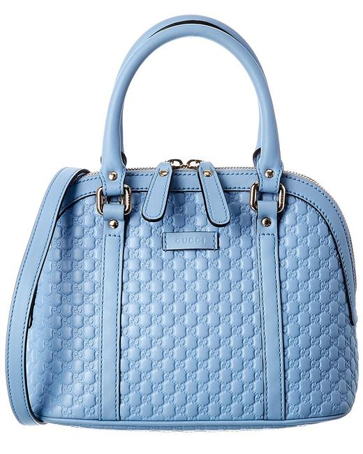 Item - Dome Pre-owned Light Blue Jean ssima Leather Mini 2072466 Satchel