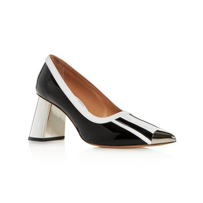 Item - Women's Leather Pointed Toe Block Black Pumps
