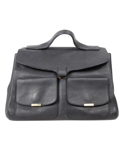 Item - Black Leather Harper Tote