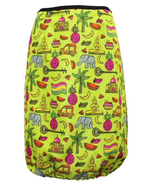 Item - Neon with Thailand Graphic Print Skirt