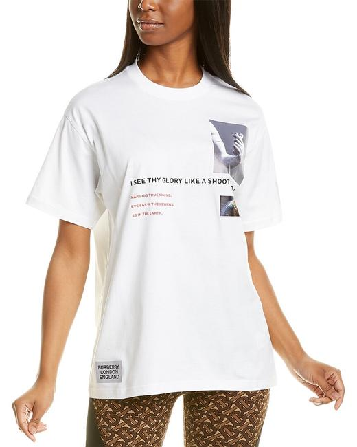 Burberry Montage Print Oversized T-shirt 8024656 Blouse Burberry Montage Print Oversized T-shirt 8024656 Blouse Image 1