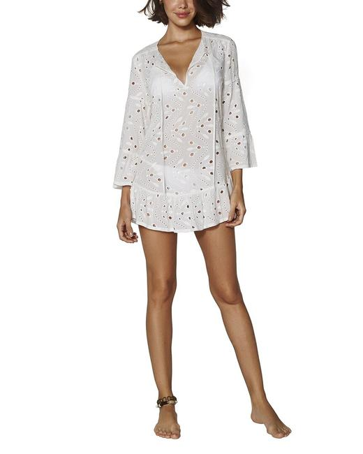 Item - Solid Ruffle Tunic 273-407-003 Cover-up/Sarong