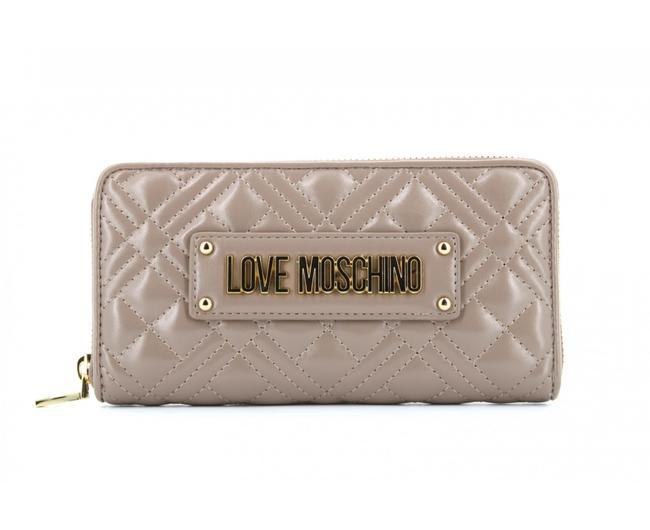 Item - Love Large Women's Zipped Quilted Bag Grey Wallet