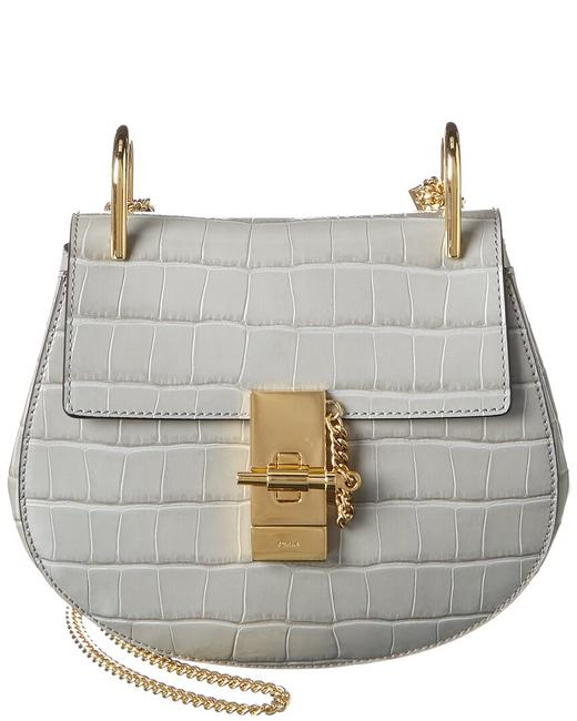 Chloé Drew Small Croc-embossed Leather Chc19us032 A87 039 Shoulder Bag Chloé Drew Small Croc-embossed Leather Chc19us032 A87 039 Shoulder Bag Image 1
