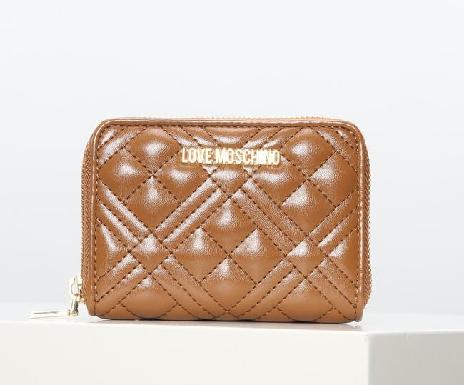Item - Love Medium Women's Zipped Quilted Bag Brown Wallet