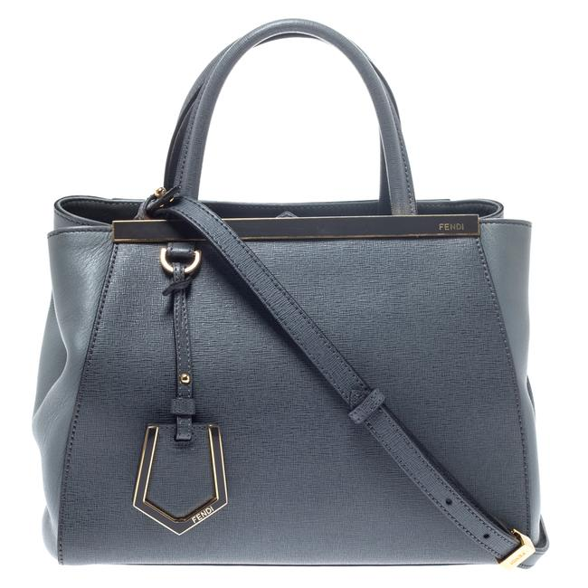 Item - Grey Saffiano Leather Small 2jours Tote