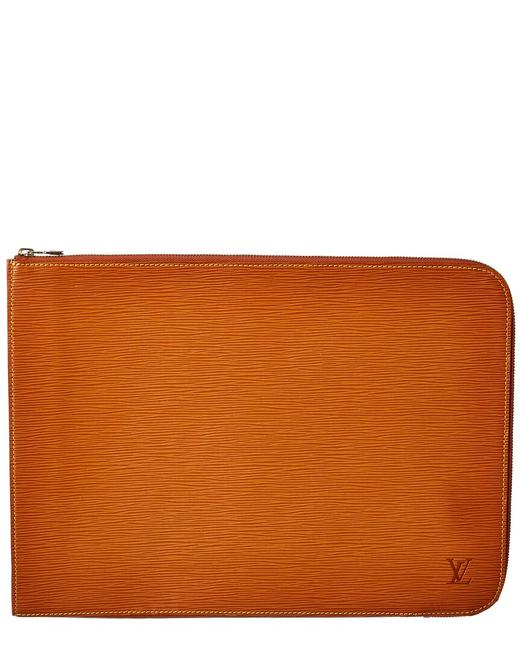 Item - Poche Pre-owned Orange Epi Leather Documents Briefcase 113984 Clutch