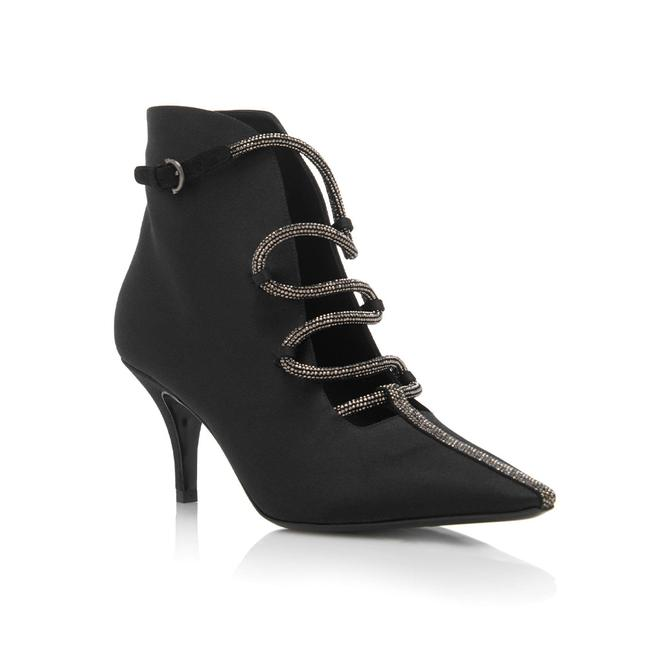 Item - Women's Satin Leather Ciconia Ankle Black Boots/Booties