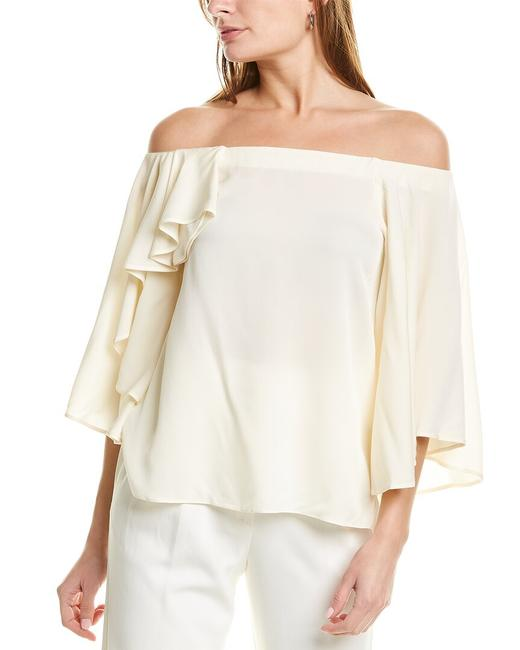Item - Heritage Off-the-shoulder Silk-blend Top Dsg011399 Blouse