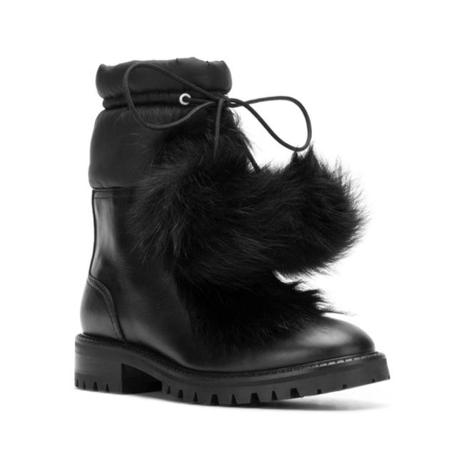 Item - Women's Leather Glacie Flat Ankle Black Boots/Booties