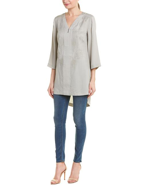 Item - Embroidered Silk-blend Qw64502 Tunic