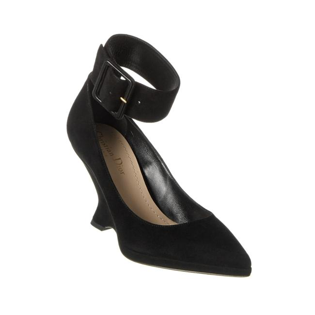 Item - Women's Suede Leather ound Wedge Pump Black Boots/Booties