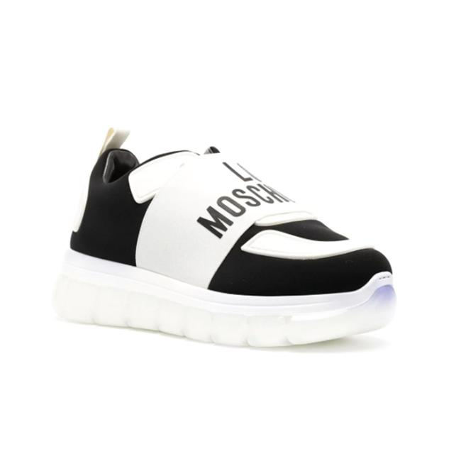 Item - Love Women's Panelled Logo Low Top White Sneaker Athletic