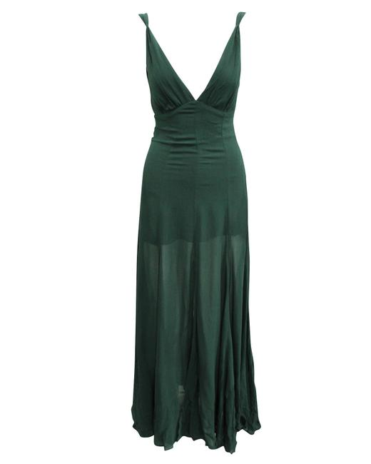 Item - Dark Green Maxi Flattering Dress