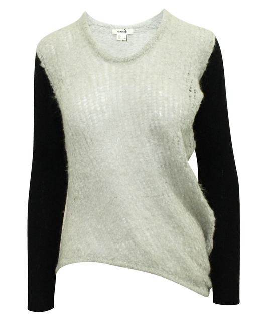 Item - Light Grey and Black Sweater with Back Blouse