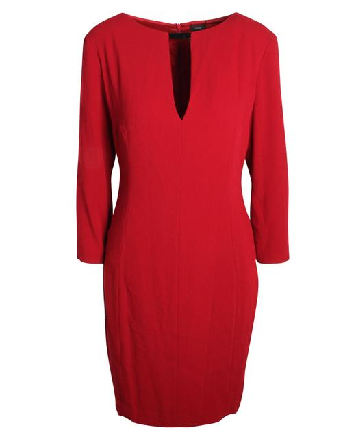 Item - Red with Neck Details -pre Owned Condition Very Good Formal Dress
