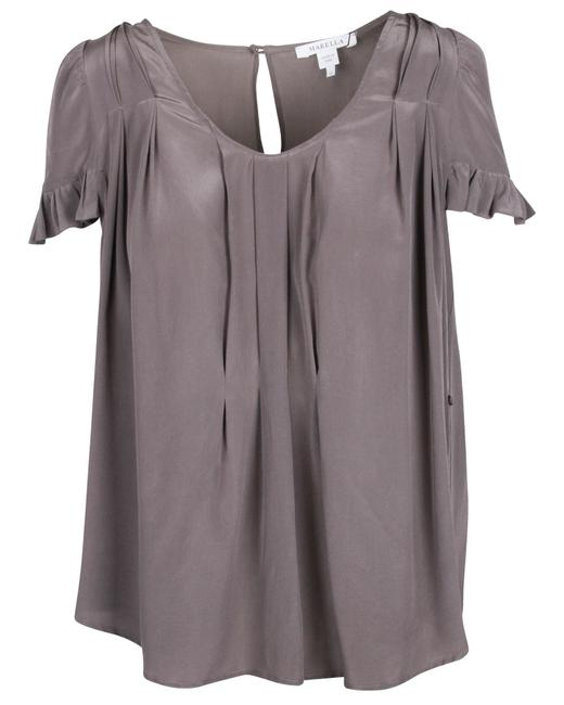 Item - Pleated Grey -pre Owned Condition Excellent Fr42 Blouse