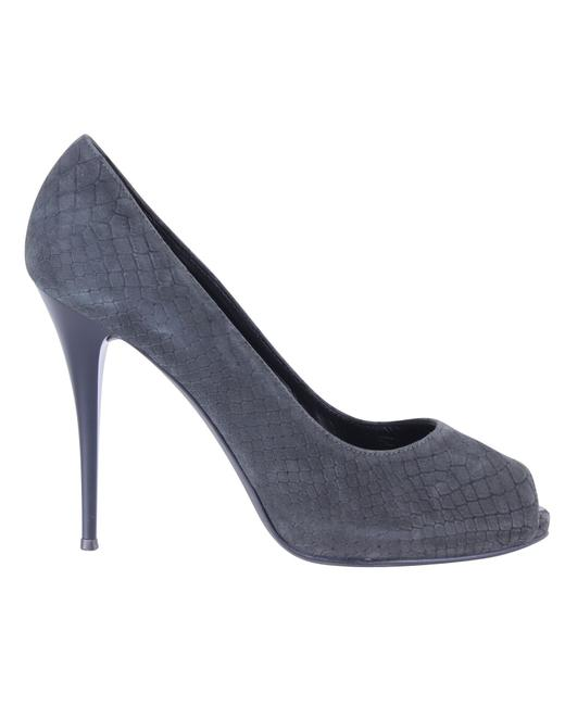 Item - Croc Effect Open Toe Pumps -pre Owned Condition Formal