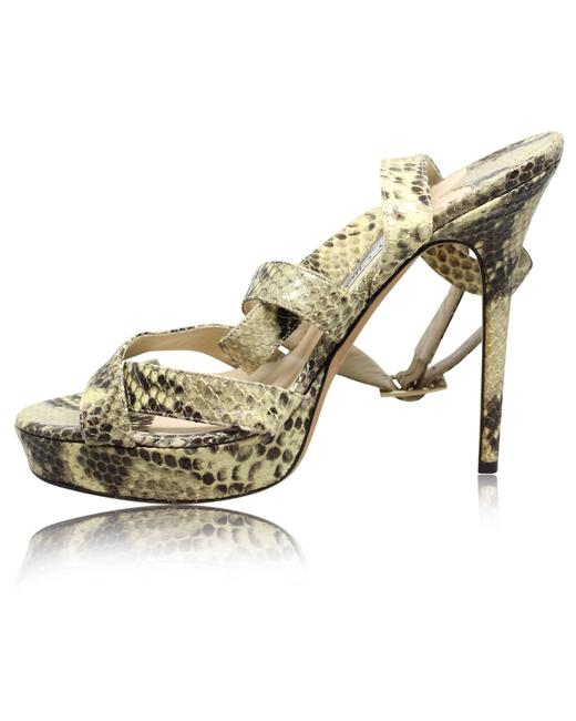 Item - Strappy Lizard Heels -pre Owned Condition Excellent 39 Formal