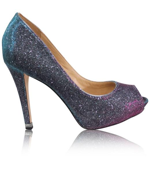 Item - Shimmery Open Toes Pumps -pre Owned Condition Formal