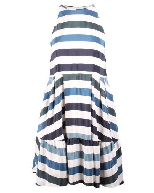 Item - Silk Striped -pre Owned Condition Very Good Formal Dress