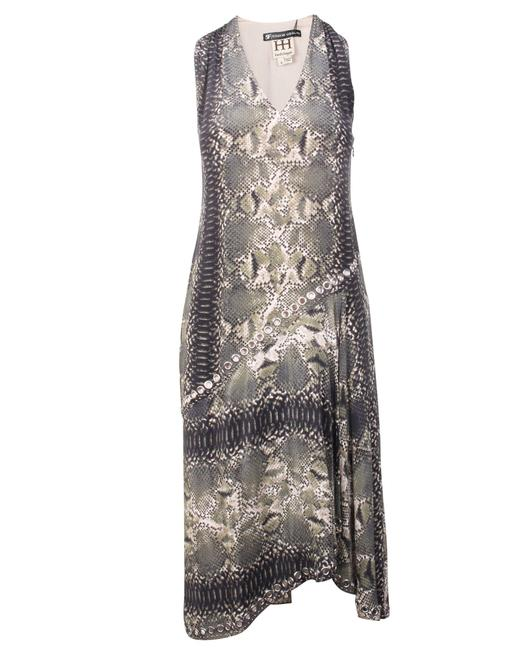 Item - Green Python Print -pre Owned Condition Excellent Formal Dress
