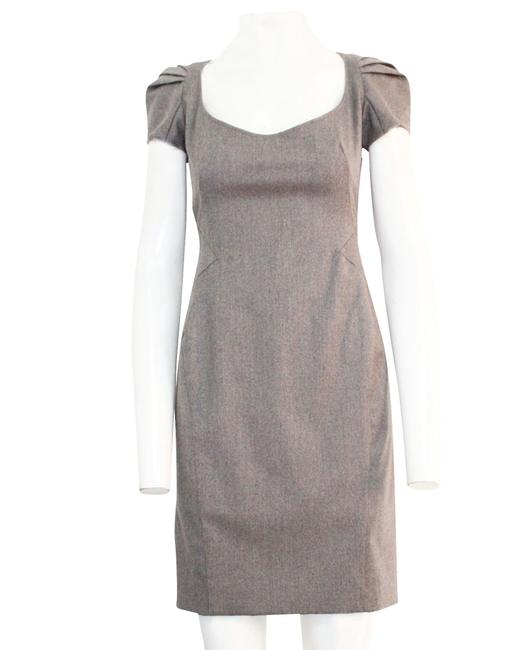Item - Grey Wool Knee Length -pre Owned Condition Excellent Formal Dress