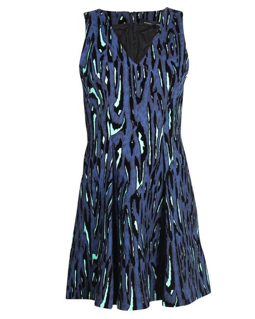 Item - A-line Blue with Fluo Prints -pre Owned Cocktail Dress