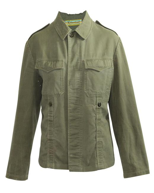 Item - Khaki Jacket with Skull Print -pre Owned Condition Good M Coat