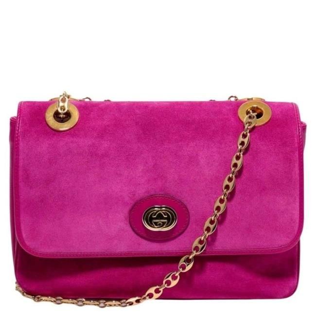 Gucci Small Marina Suede In Pink Mini Shoulder Bag Gucci Small Marina Suede In Pink Mini Shoulder Bag Image 1