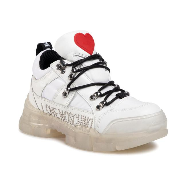 Item - Love Women's Leather Studded Low-top White Sneaker Athletic