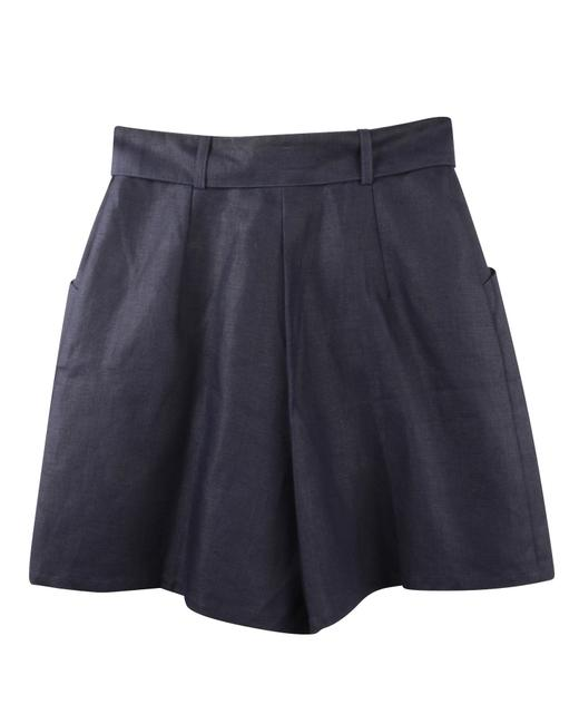 Item - Navy Linen -pre Owned Condition Very Good Fr36 Shorts