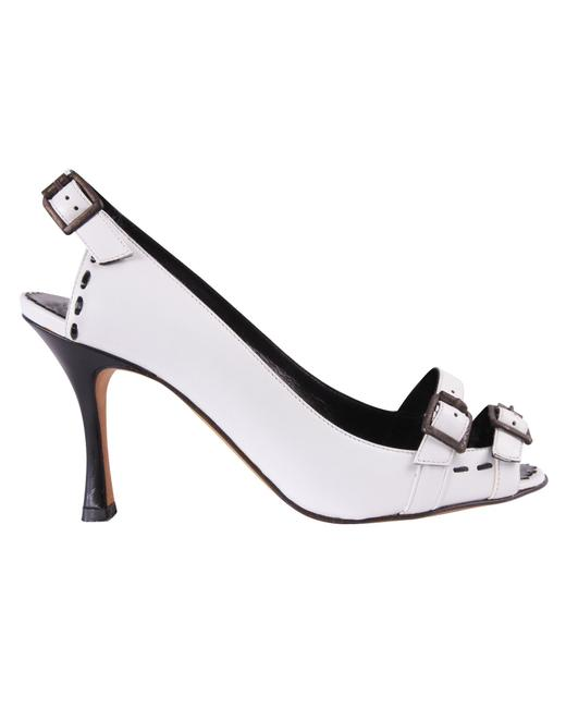 Item - White Heels with Double Buckles -pre Owned Condition Formal