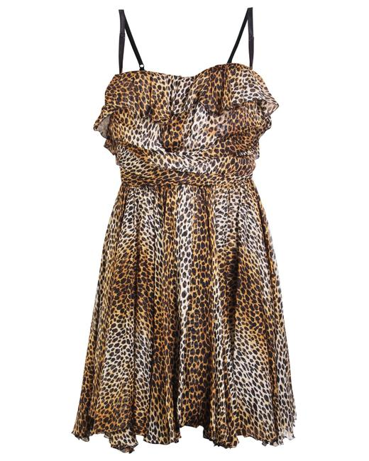 Item - Dolce & Gabbana Animal Print Flowy -pre Owned Condition Very Cocktail Dress