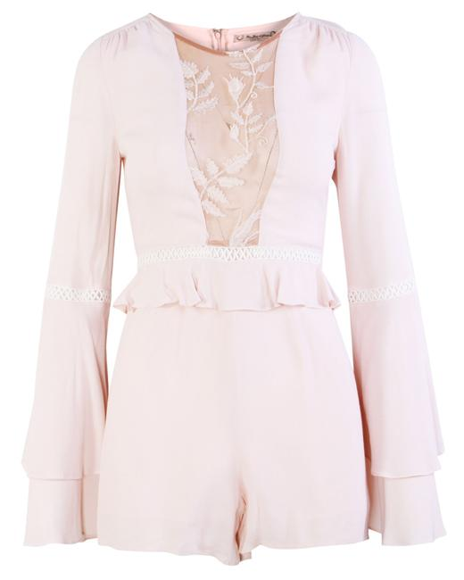 Item - Pastel Pink with Lace Details -pre Owned Romper/Jumpsuit