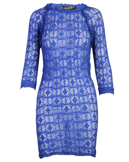 Item - Blue Crochet Mini -pre Owned Condition Very Good S Cocktail Dress