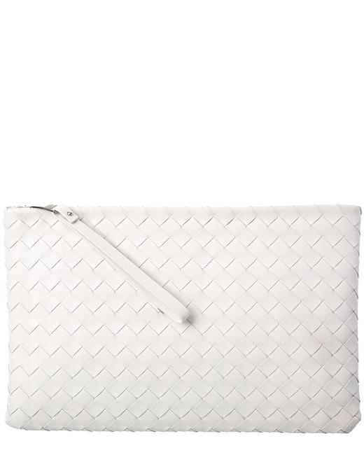 Item - Large Intrecciato Leather Pouch 608249 Vcpp1 9005 Wallet