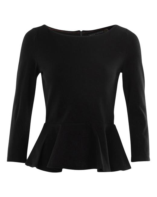Item - Back-zip Peplum Top Blouse