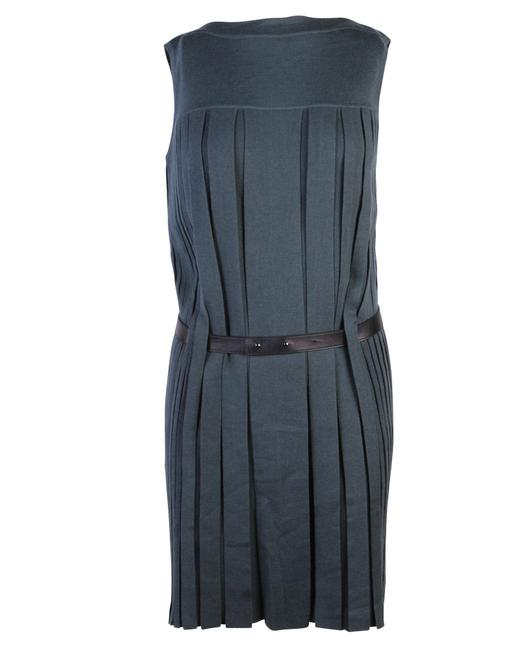 Item - Green Pleated Cashmere Dress