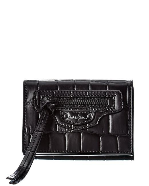 Item - Neo Classic Mini Croc-embossed Leather French Wallet 640107 15v07 Accessory