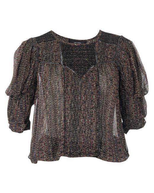 Item - Ruched Sheer Blouse